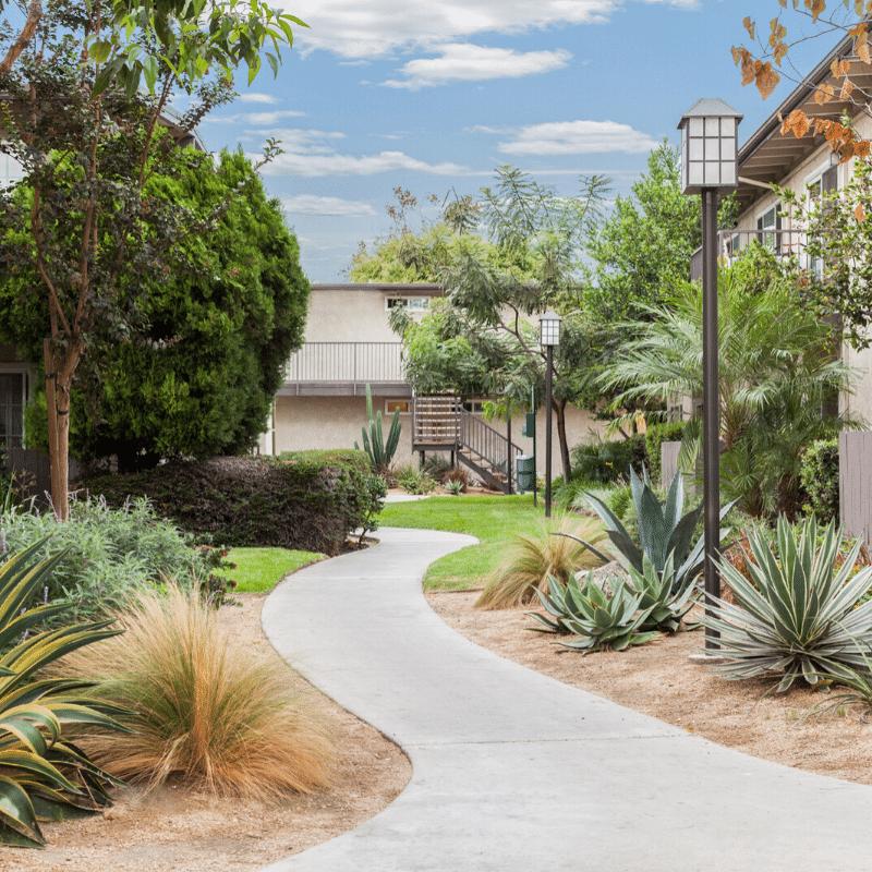 Villa Del Sur Garden and walkway
