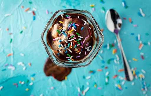 Ice cream with sprinkles